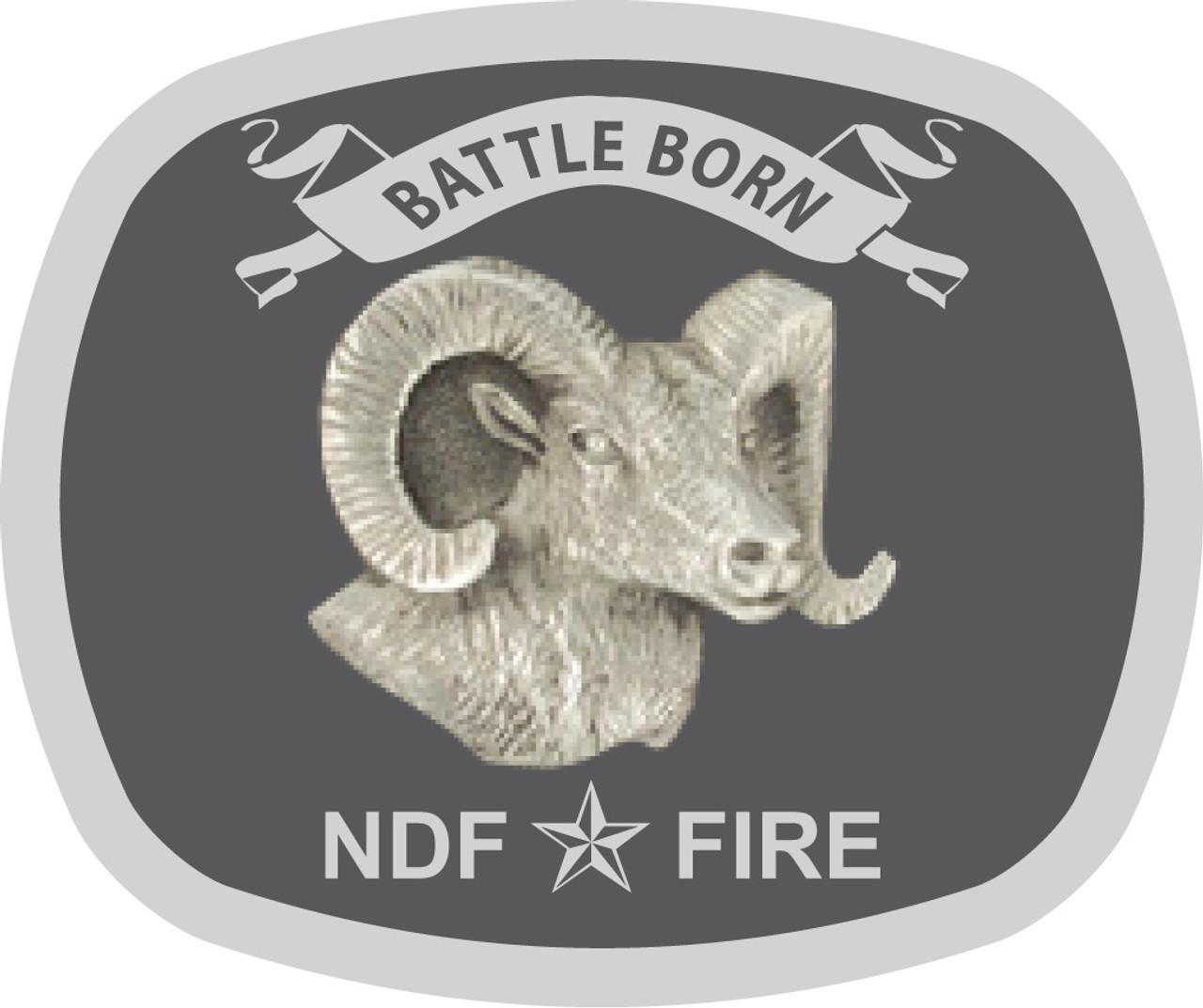 Battle Born NDF Fire Belt Buckle