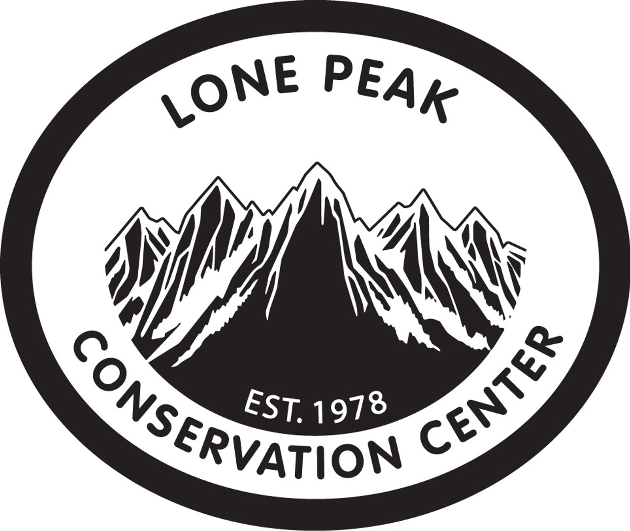 Lone Peak Conservation Center (no extra text) belt buckle
