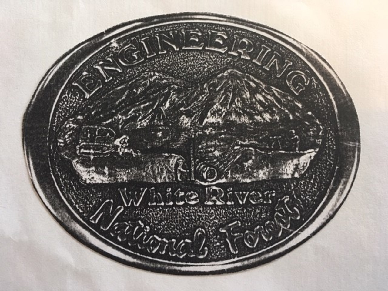 White River National Forest Engineer Buckle