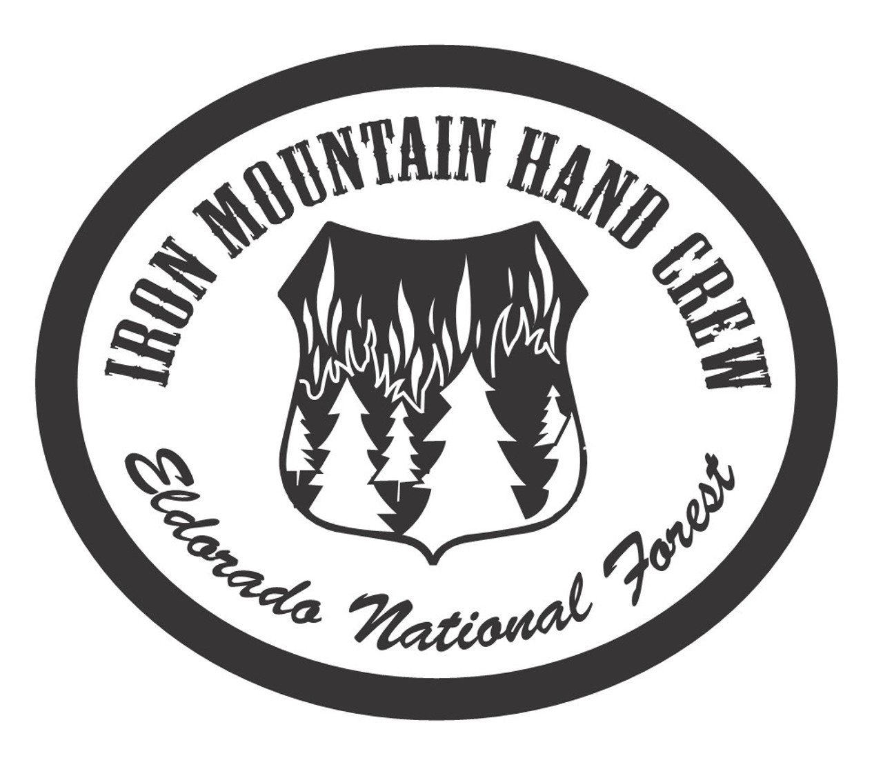 Iron Mountain Hand Crew Eldorado National Forest Buckle (RESTRICTED)