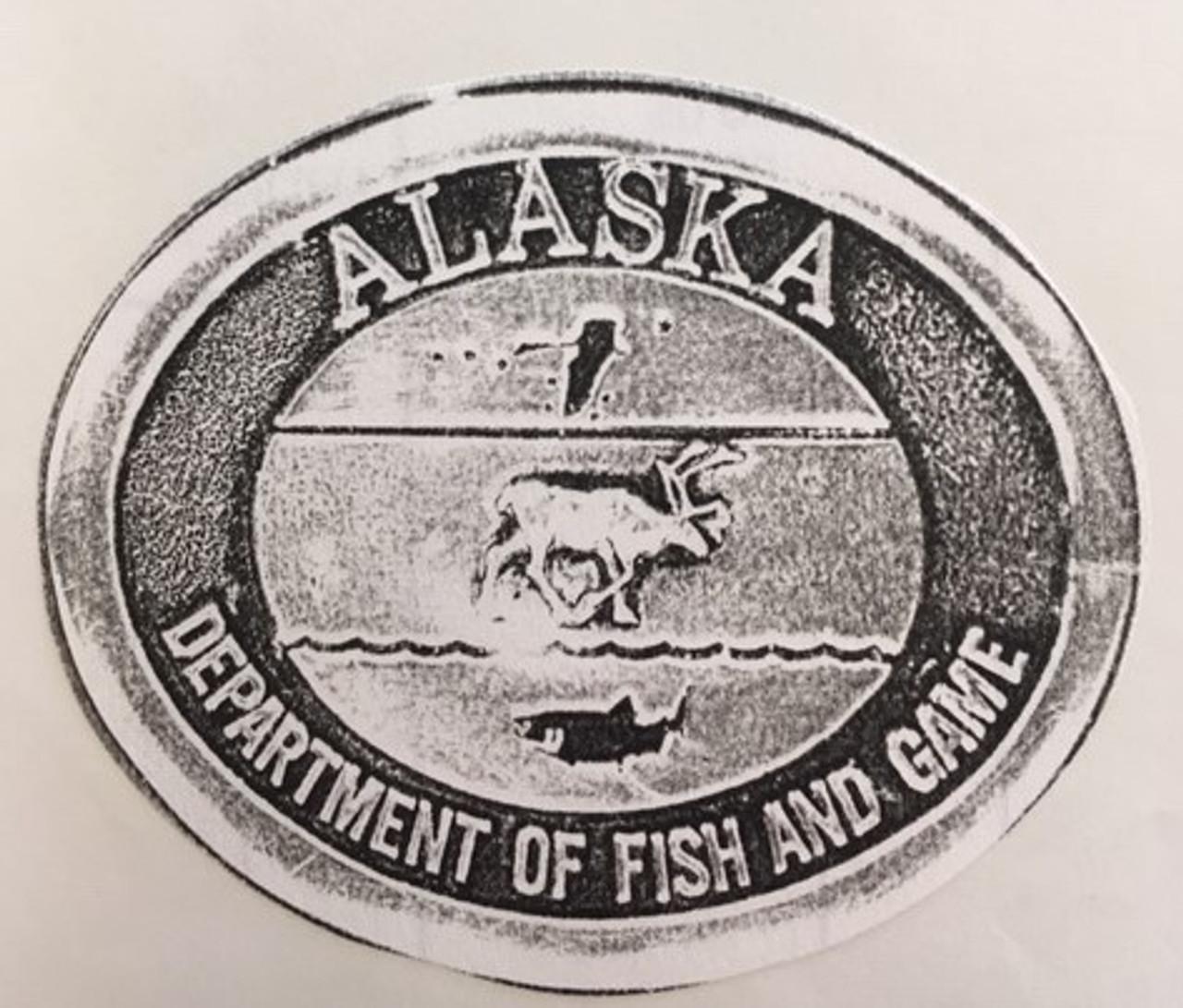 Alaska Department of Fish & Game Buckle