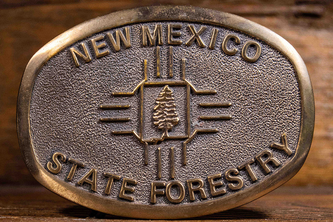 New Mexico State Forestry Buckle