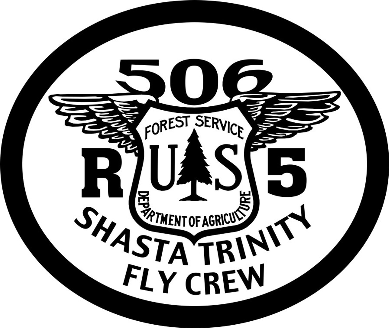 Shasta Trinity Fly Crew 506 R-5 Buckle (RESTRICTED)