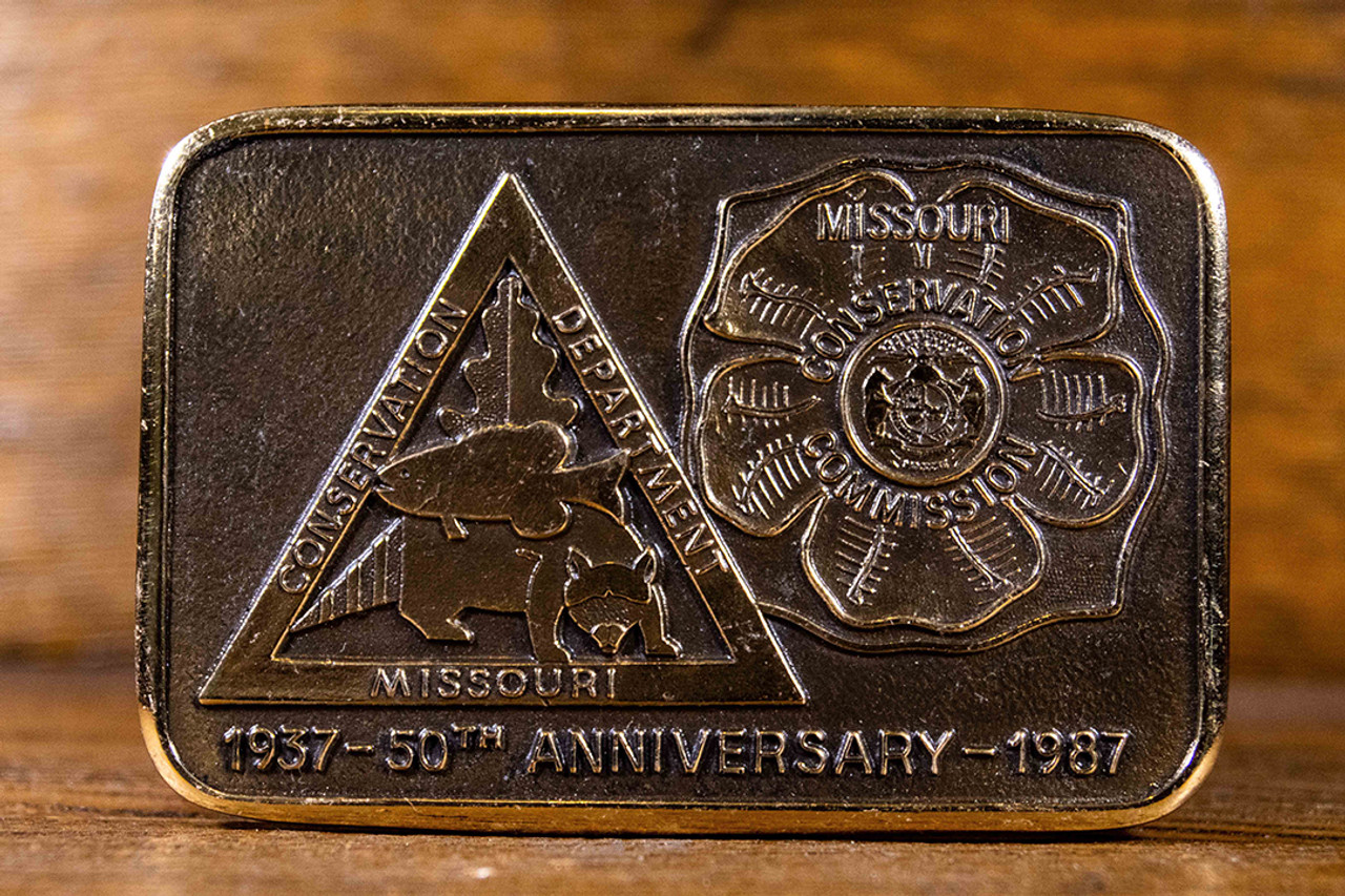 Missouri Conservation Commission 50th Anniversary Buckle