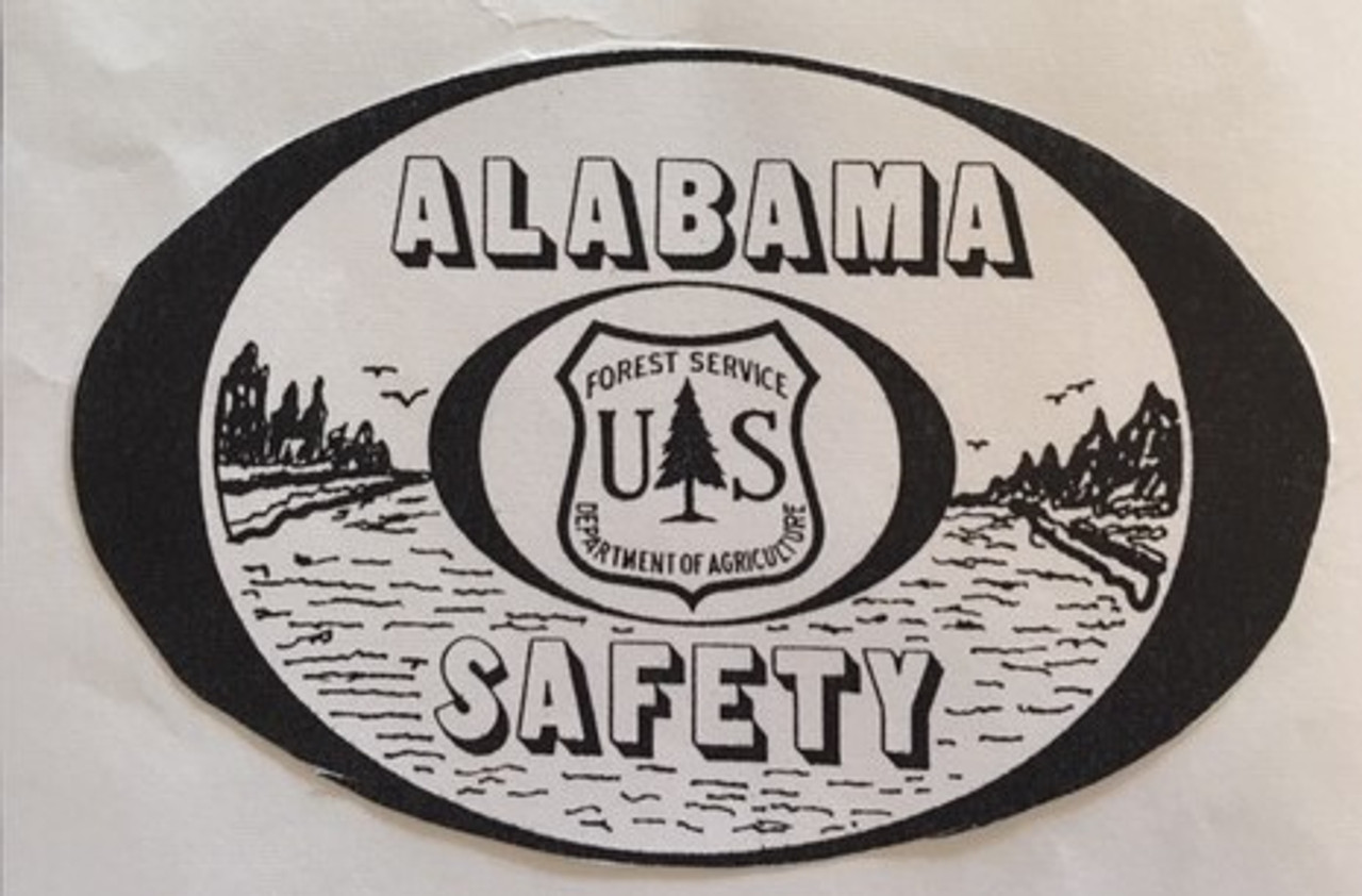 Alabama Safety Forest Service Buckle