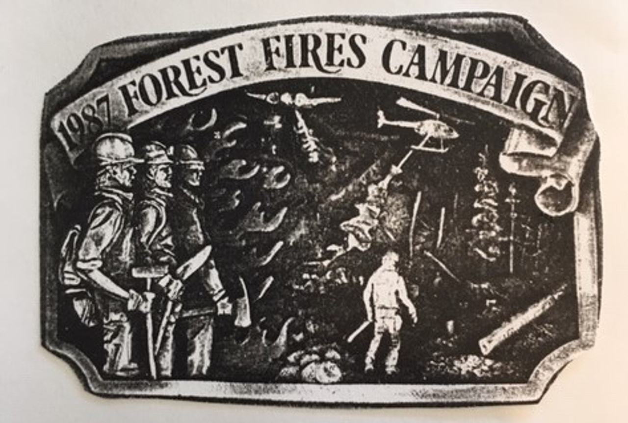 1987 Forest Fire Campaign Buckle