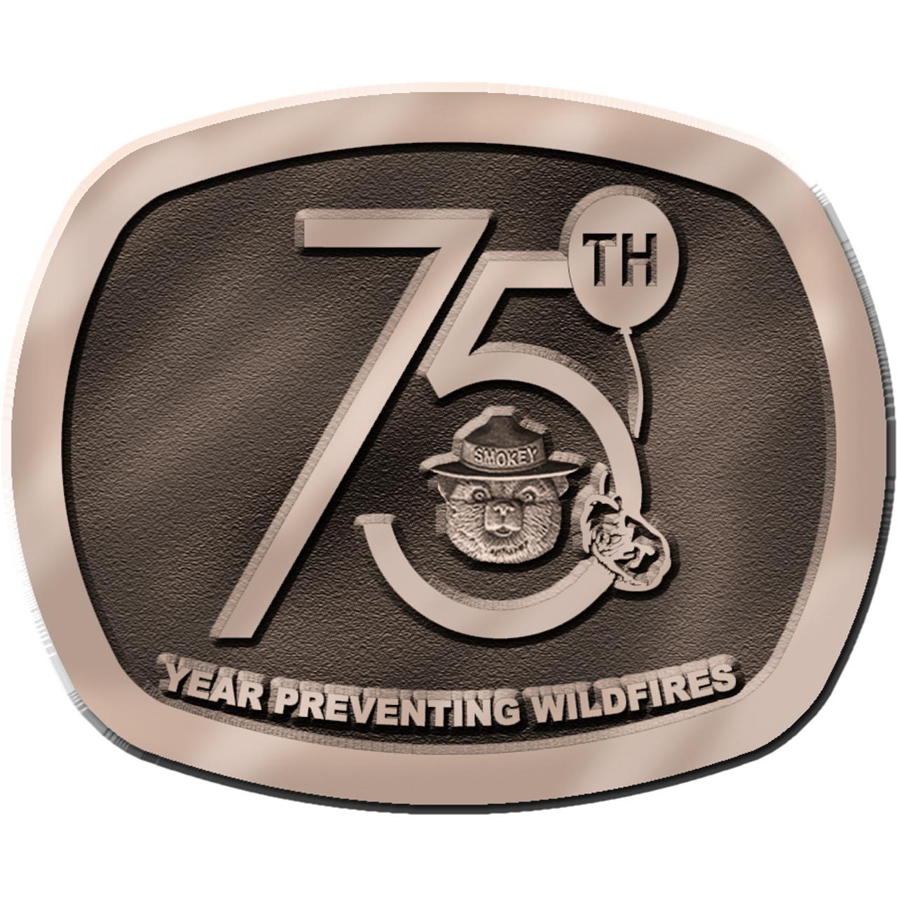 Smokey Bear 75th Anniversary Buckle