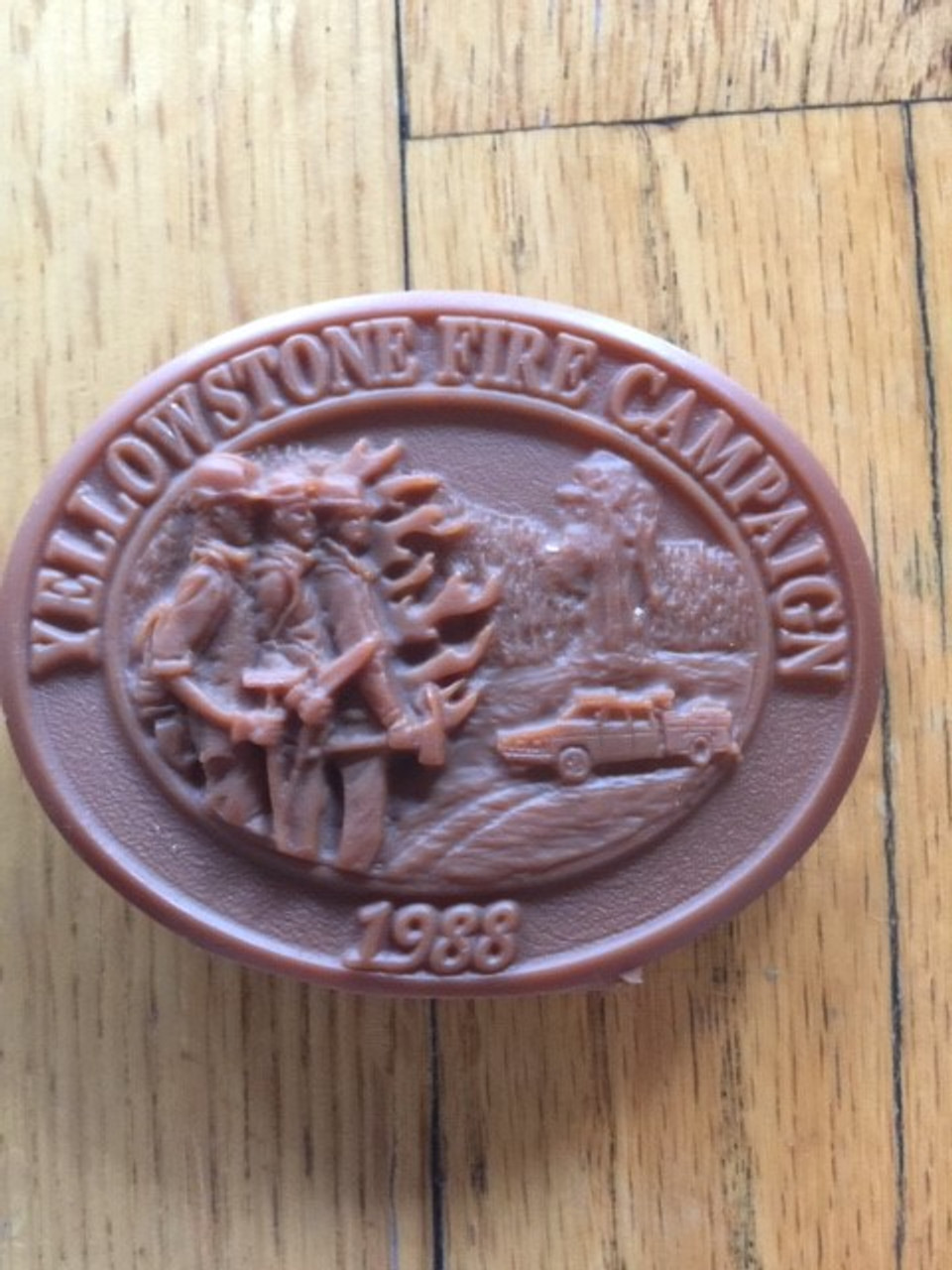 Yellowstone Fire Campaign 1988 Buckle