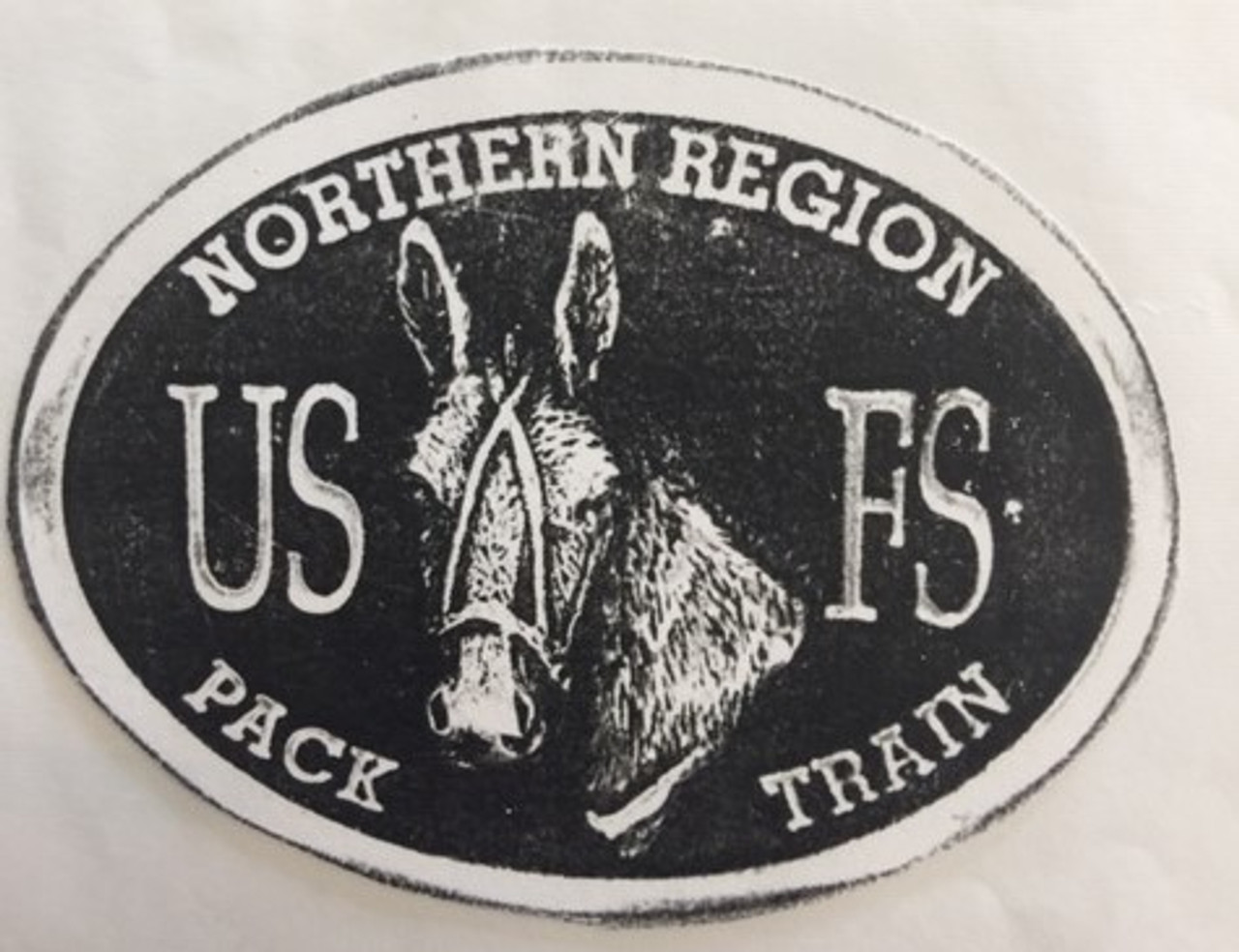 Northern Region Pack Train Forest Service Buckle