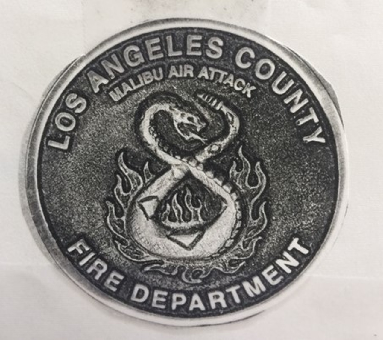 Los Angeles County Fire Department Malibu Air Attack Buckle (RESTRICTED)