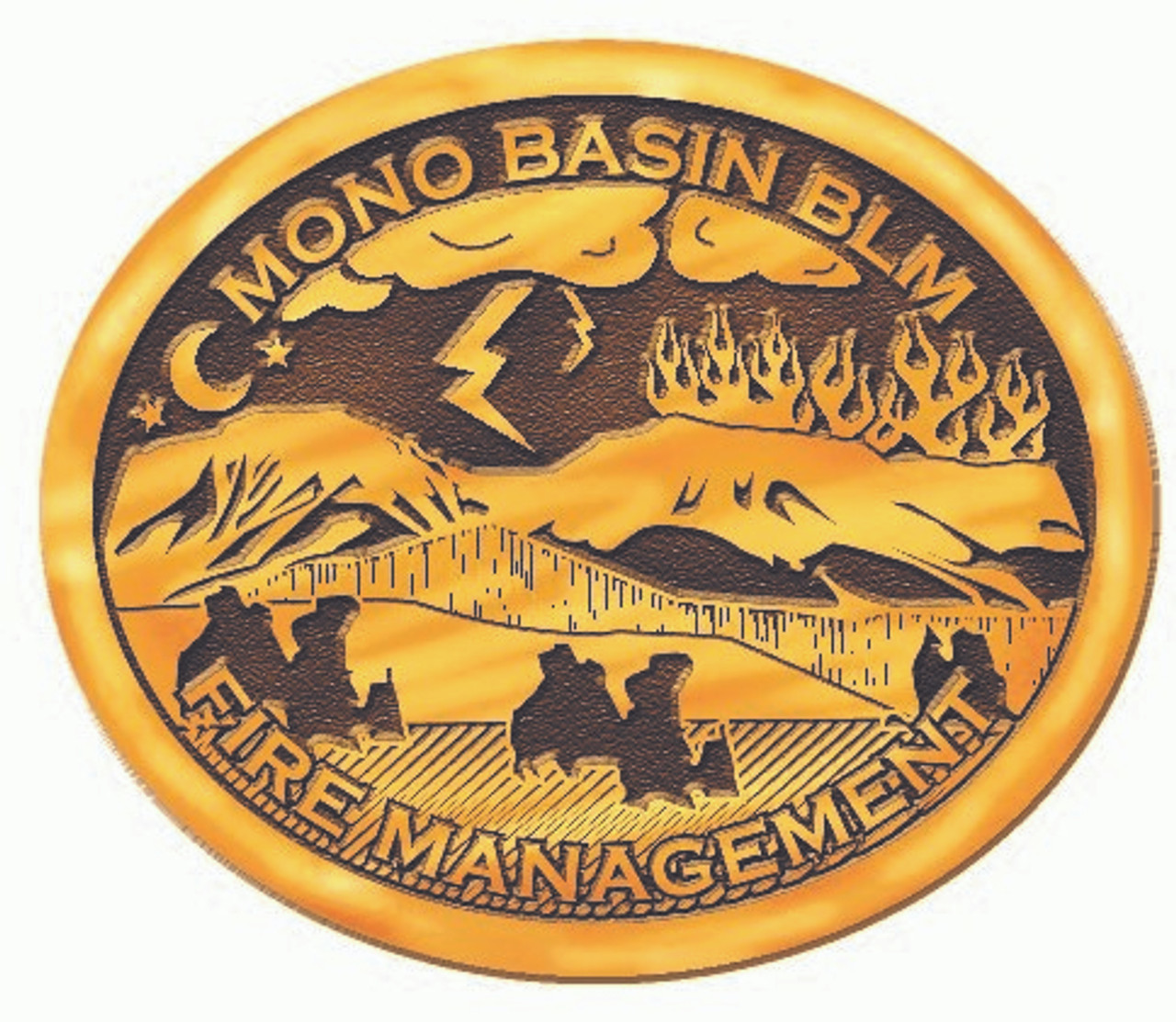 Mono Basin BLM Fire Management Buckle (RESTRICTED)