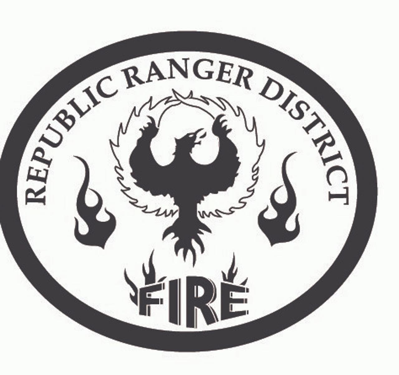 Republic Range District Fire Buckle