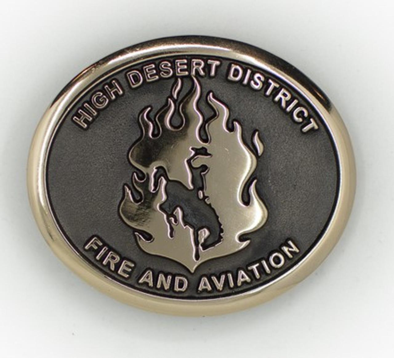 High Desert District Fire & Aviation Buckle