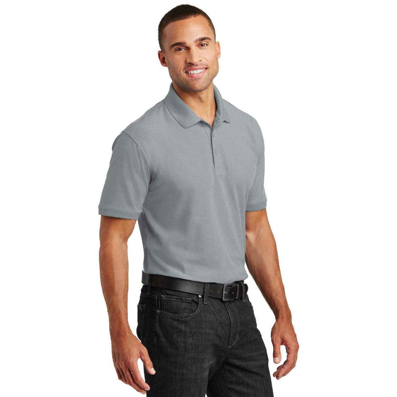 Medium FWS Gray Men's Polo Shirt 30% OFF
