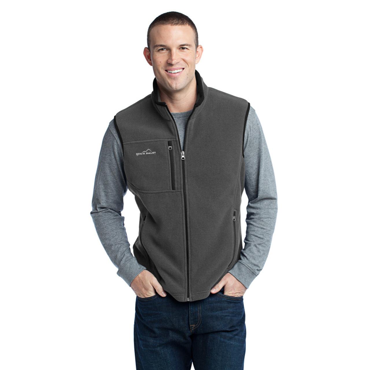 Medium Gray MEN'S FWS Eddie Bauer® - Fleece Vest  - 30% OFF