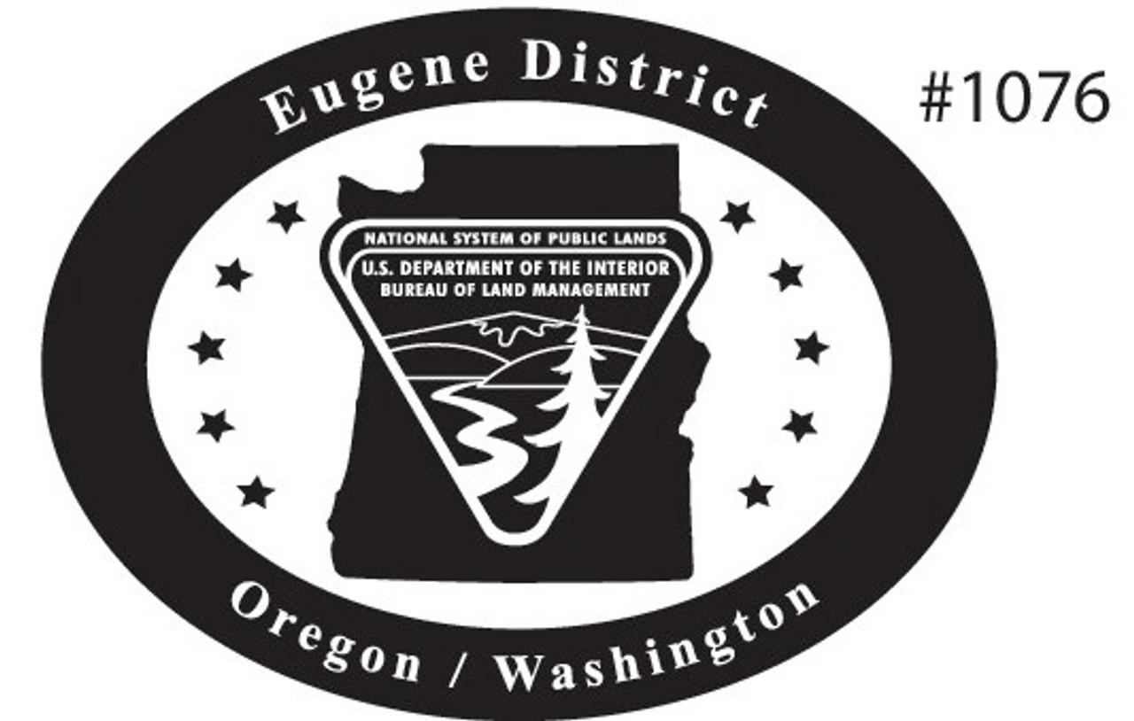 Oregon Washington Eugene District Bureau of Land Management Buckle