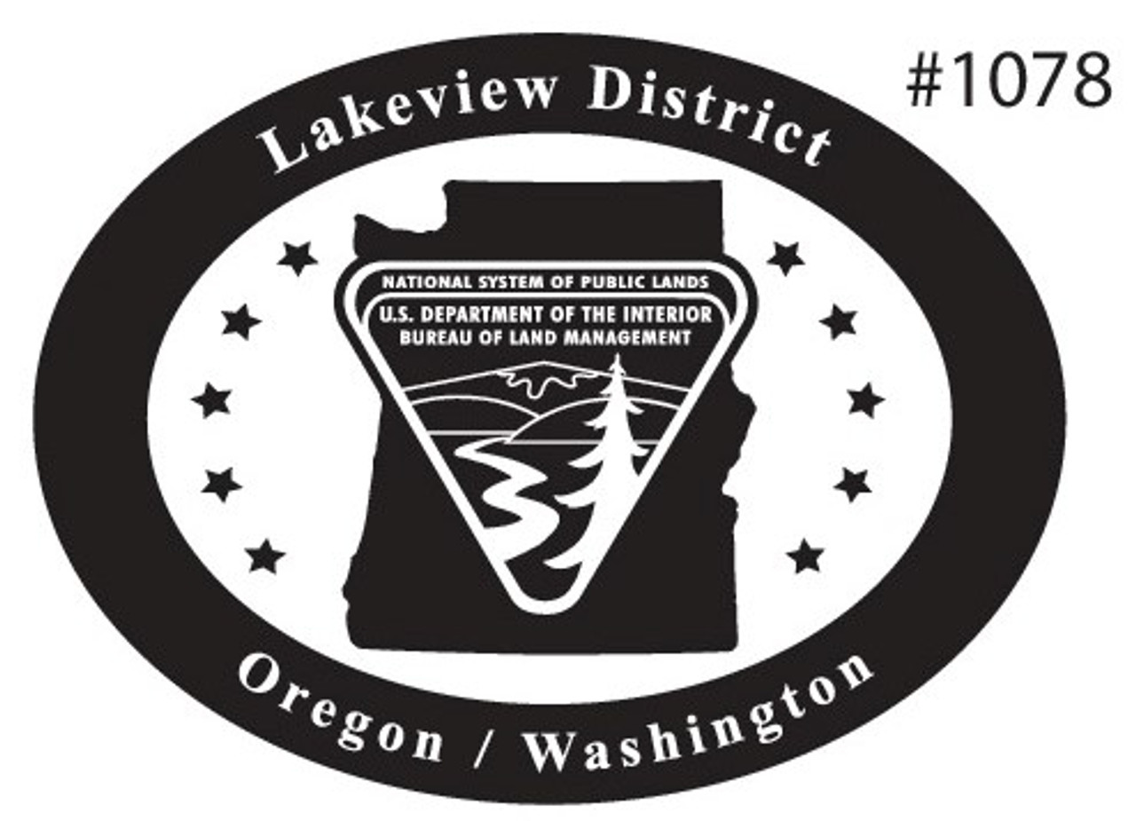 Oregon Washington Lakeview District Bureau of Land Management Buckle