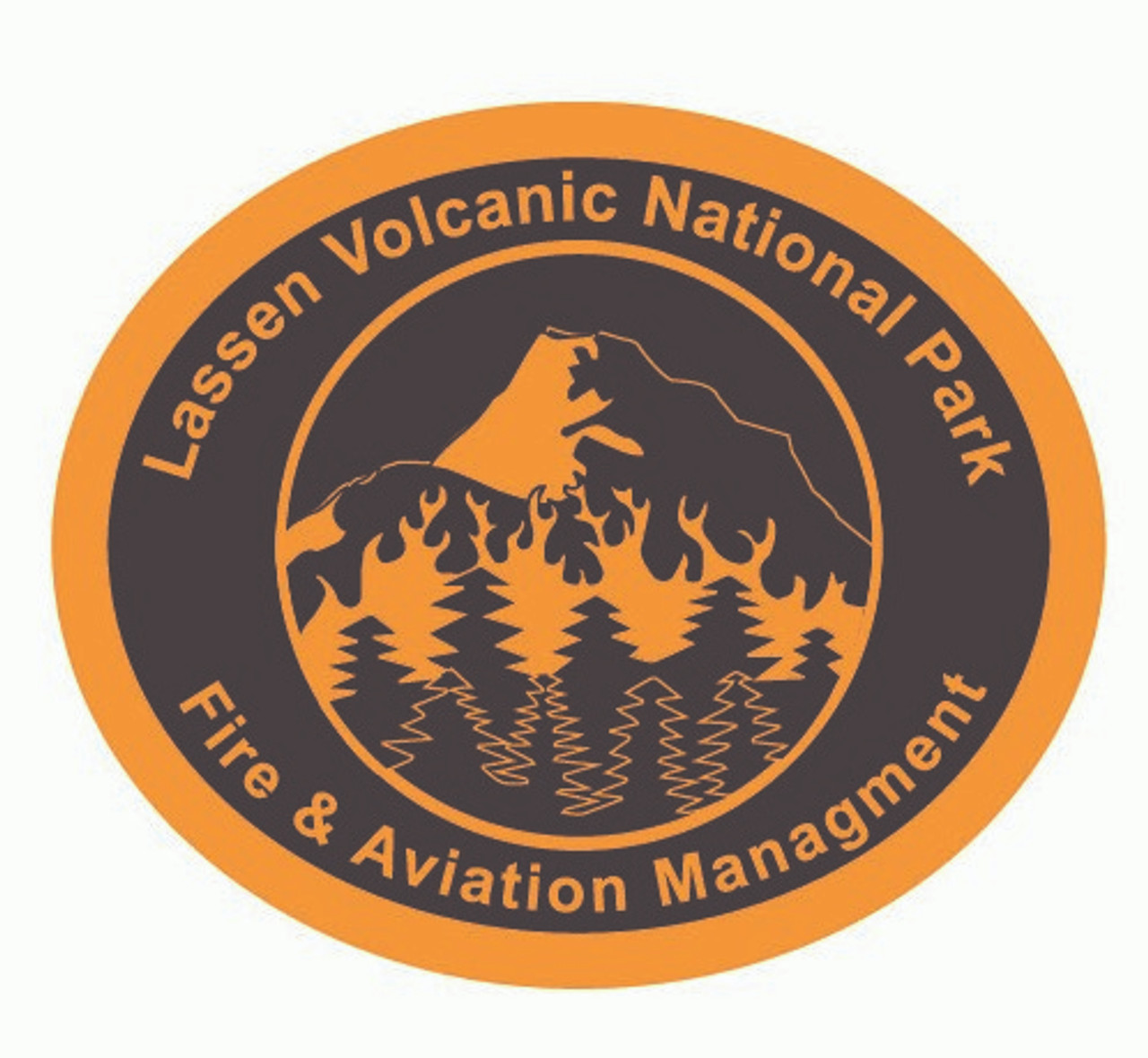 Lassen Volcanic National Park Fire & Aviation Management Buckle (RESTRICTED)