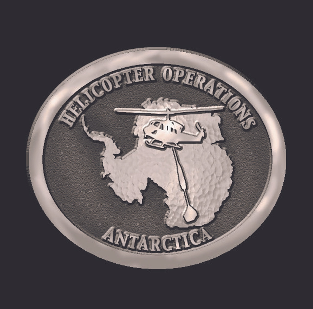 Helicopter Operations Antarctica Buckle (RESTRICTED)