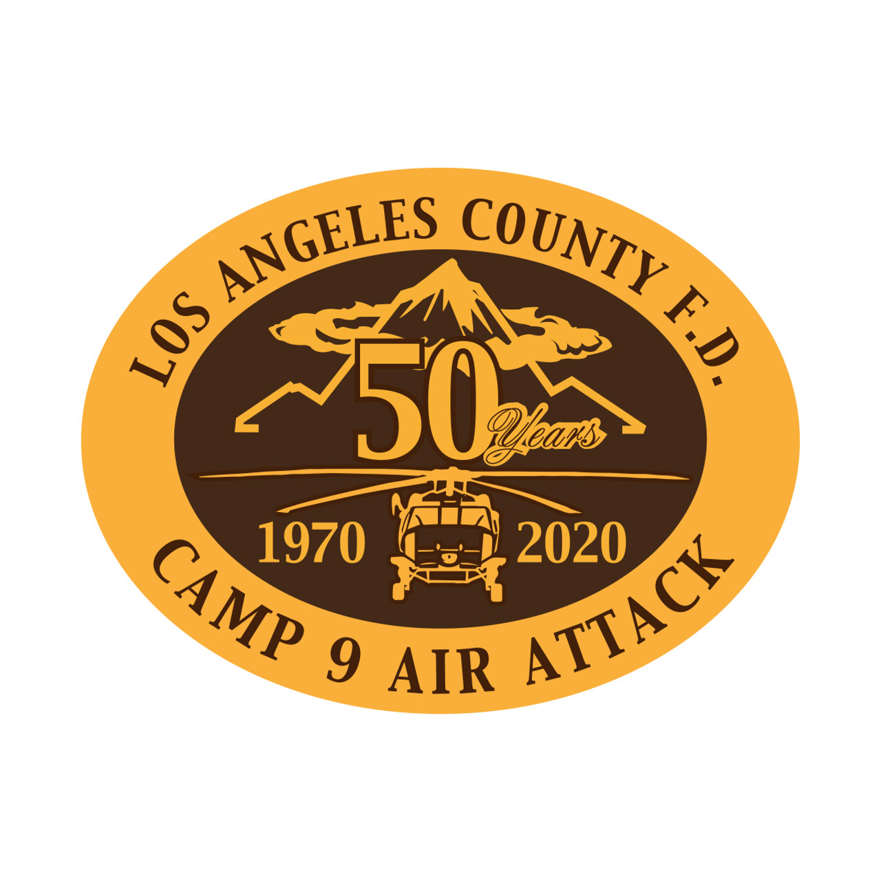Los Angeles County FD Camp 9 Air Attack 50 Years Buckle(RESTRICTED) Oversized