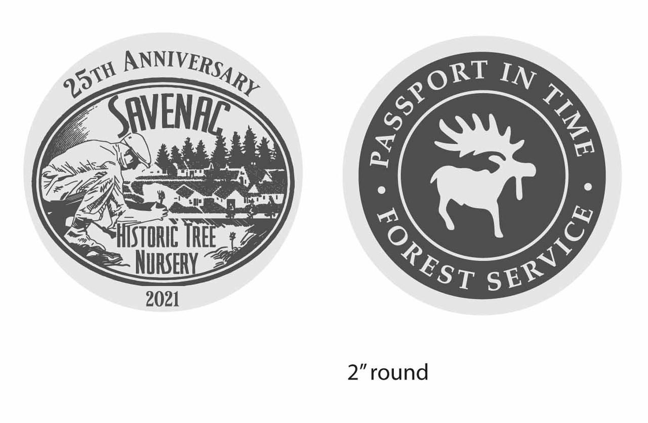 Savenac Historic Tree Nursery PIT 2021 Coin SILVER ALLOY