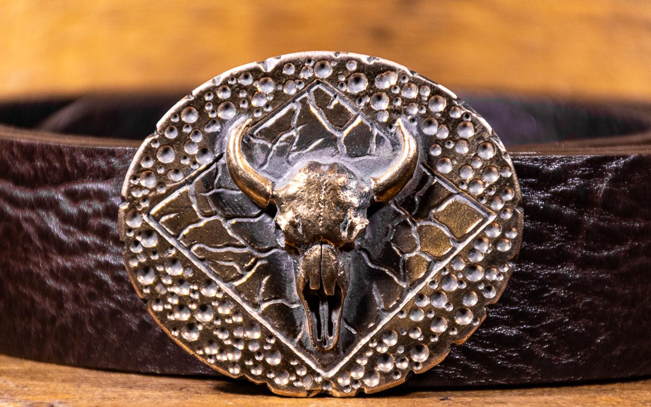 Bull Skull Buckle