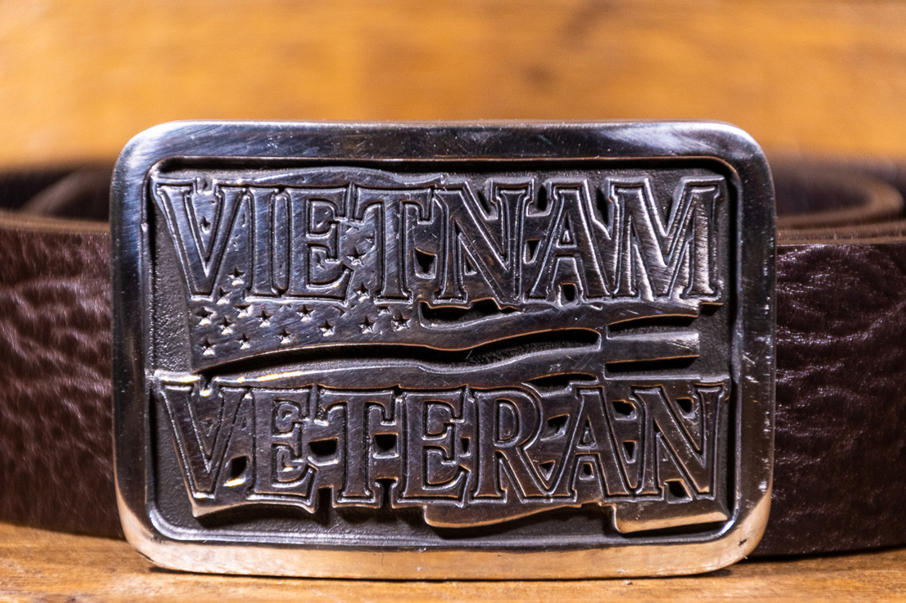 Vietnam Veteran Flag Buckle