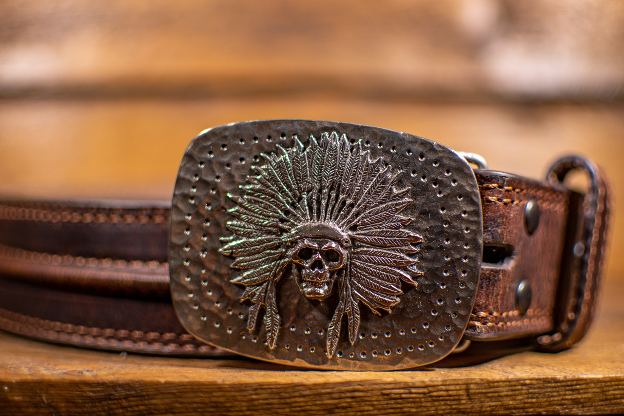 Skull Headdress Buckle