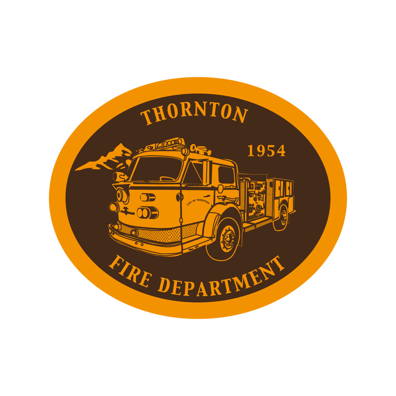 Thornton Fire Department Buckle (RESTRICTED) NEEDS LARGE BAIL