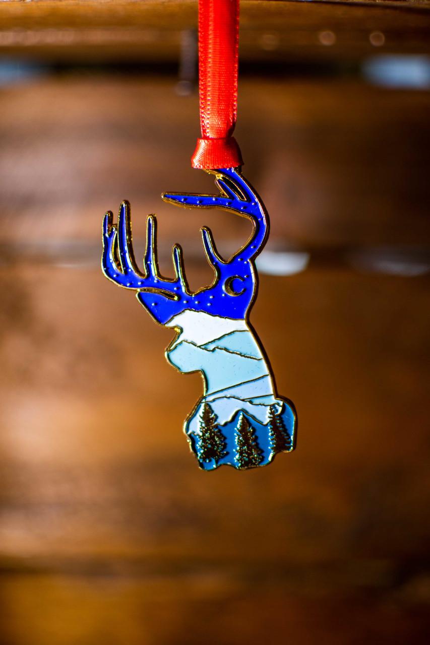 Starry Night Deer Ornament