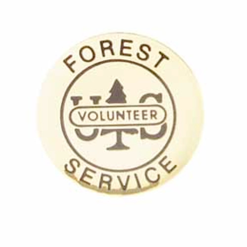 US Forest Service Volunteer Round Pin
