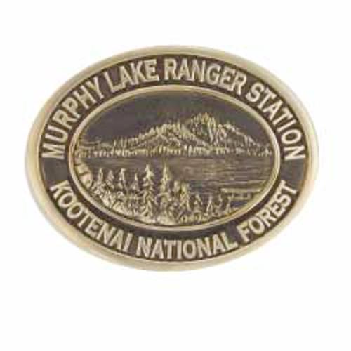 Murphy Lake Ranger Station Buckle