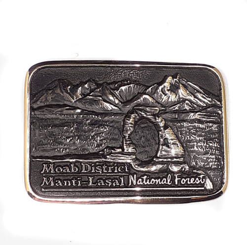 Moab District Manti-Lasal National Forest Buckle