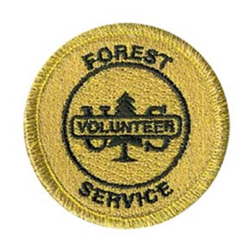 Forest Service Volunteer Round Patch