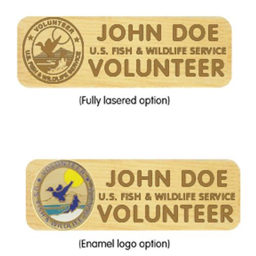 Maple Name Badge