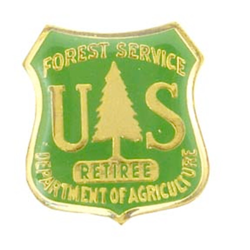 Forest Service Green Retiree Lapel Pin