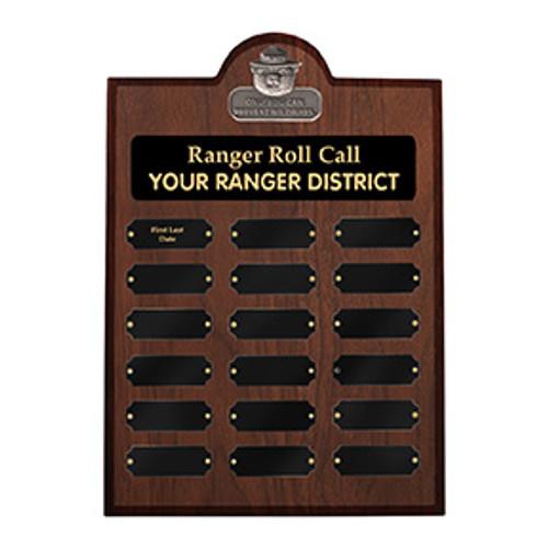 Ranger Roll Call Plaque - Walnut