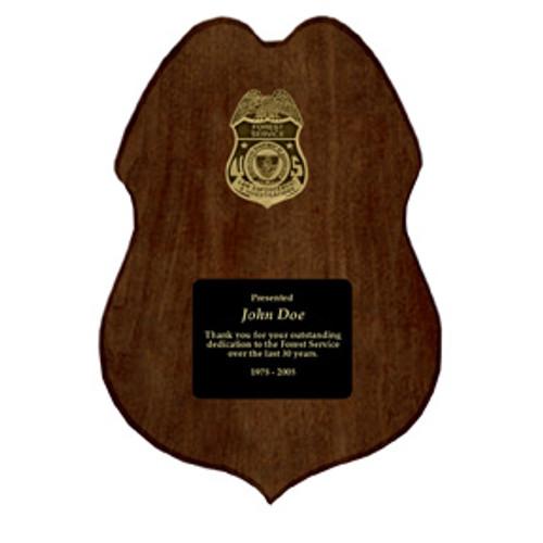 Forest Service Law Enforcement Plaque - Customized
