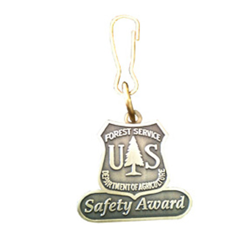 Forest Service Safety Award Zipper Pull