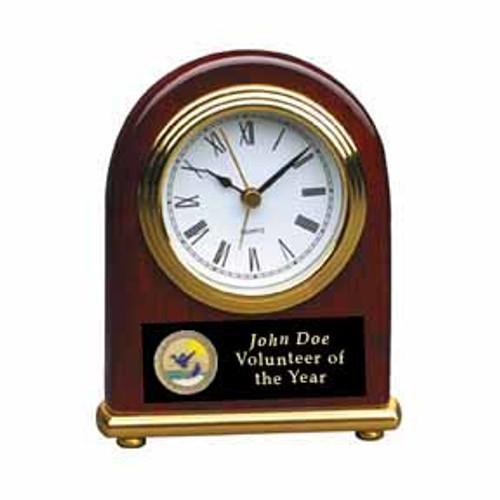 Rosewood Domed Desk Clock