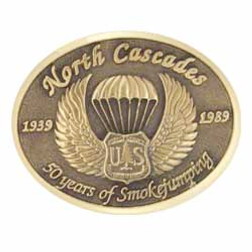 North Cascade Smokejumpers 50 Years Buckle (RESTRICTED)