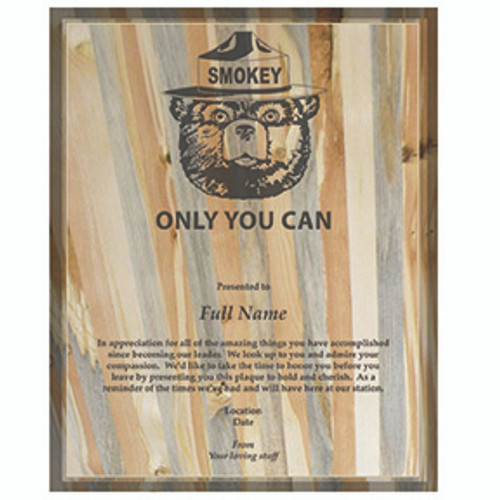Plaque 8 x 10 - Beetle Kill Pine