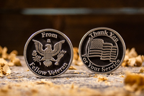 Grateful Veteran to Veteran Token of Appreciation