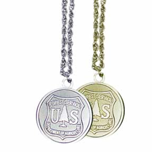 Forest Service Round Necklace (Silver)
