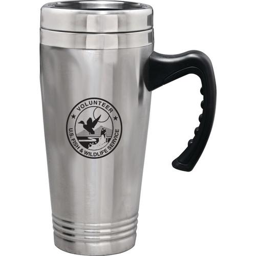 Stainless Steel Travel Mug - Fish & Wildlife Service Volunteer (discontinued)