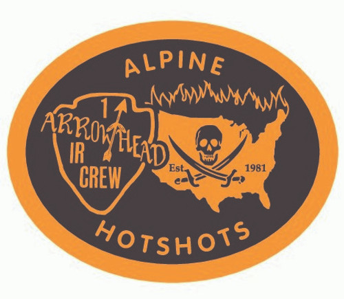 Alpine Hotshots Arrowhead Interagency Crew Buckle (RESTRICTED)