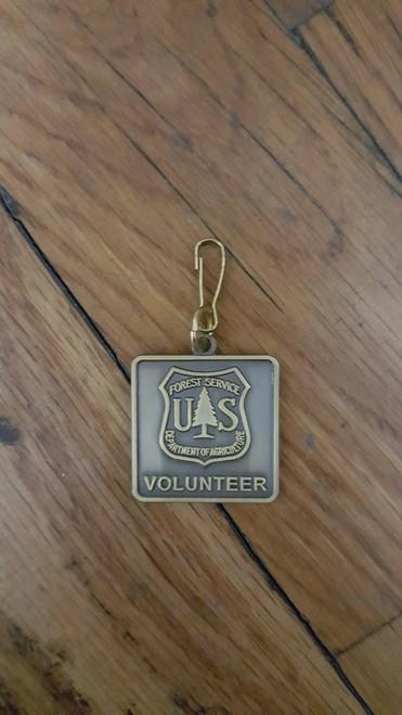 Forest Service Volunteer New Zipper Pull