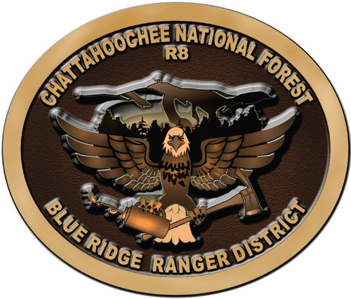 Blue Ridge Ranger District Chattahoochee National Forest Belt Buckle