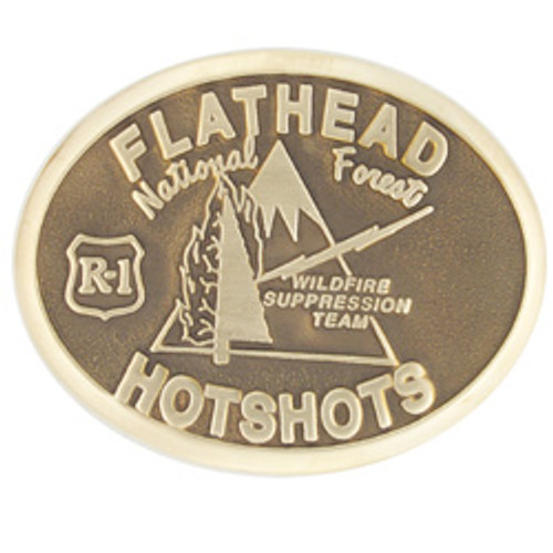 Flathead Hotshots Buckle (RESTRICTED)