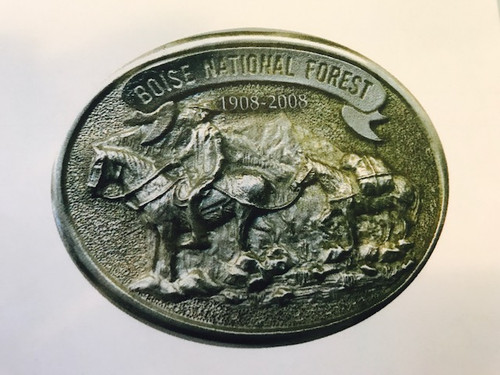 Boise National Forest 1908-2008 Buckle